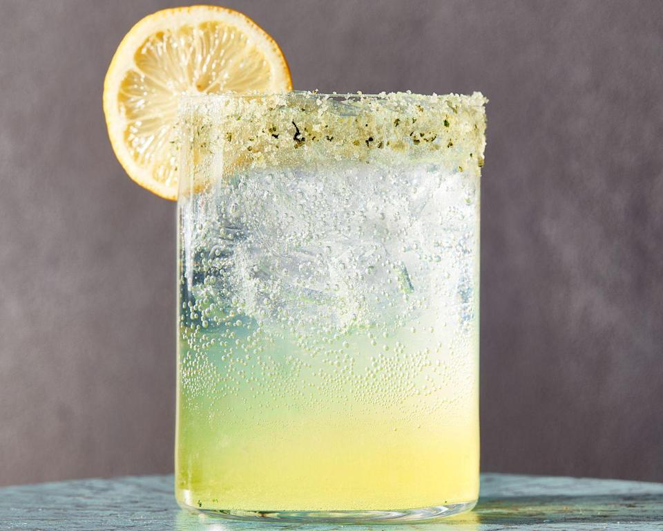 """<p>Basil-infused vodka? Sign us up. This brings out the sweetness of the herb and turns the spirit a vibrant green.<br></p><p>Get the recipe from <a href=""""https://www.delish.com/cooking/a36426261/spiked-sparkling-basil-lemonade/"""" rel=""""nofollow noopener"""" target=""""_blank"""" data-ylk=""""slk:Delish"""" class=""""link rapid-noclick-resp"""">Delish</a>.</p>"""