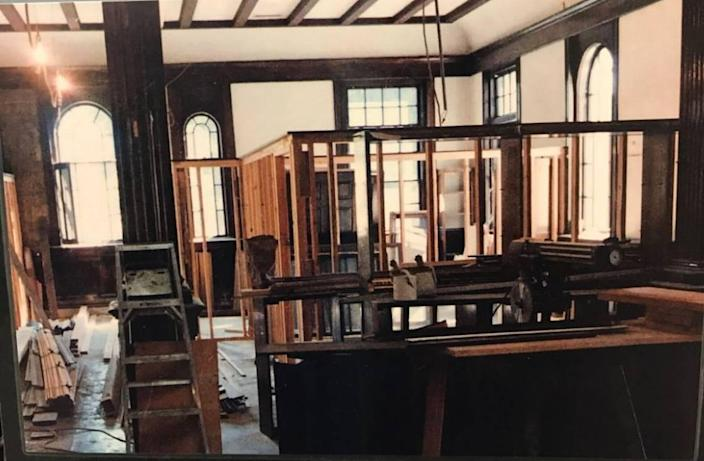 Offices were added when a law firm took over the Boise Carnegie Library building in 1987. The offices will be removed, returning the building's earlier open layout.