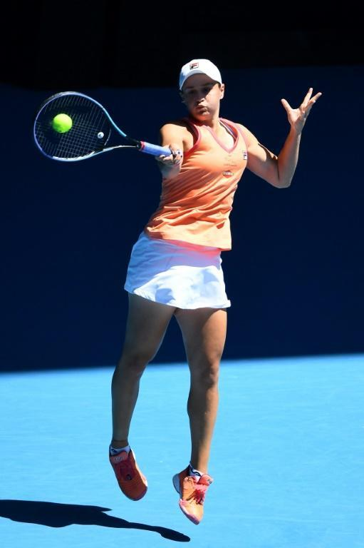 World number one Ashleigh Barty was taken to three sets in the Yarra Valley Classic