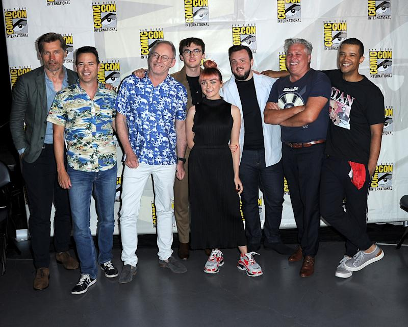 Members of the Game of Thrones cast at Comic-Con on Friday.
