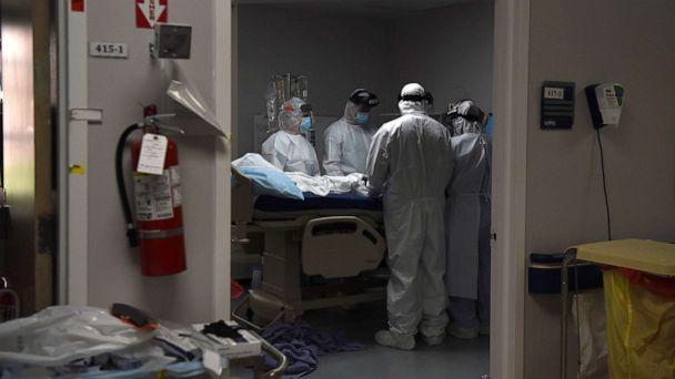PHOTO: Medical workers prepare to intubate a COVID-19 patient at the United Memorial Medical Center's COVID-19 intensive care unit in Houston, June 29, 2020. (Callaghan O'Hare/Reuters)