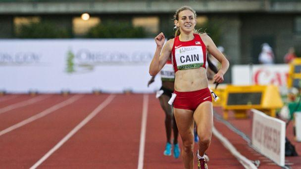 PHOTO: In this July 24, 2014, file photo, Team USA's Mary Cain wins the 3000-meter run at Hayward Field for the IAAF World Junior Championships in Eugene, Oregon. (Thomas Boyd/The Oregonian via AP, File)