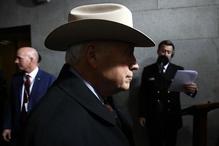 <p>Former Vice President Dick Cheney arrives on the West Front of the U.S. Capitol on January 20, 2017 in Washington, DC. (Photo: Win McNamee/Getty Images) </p>