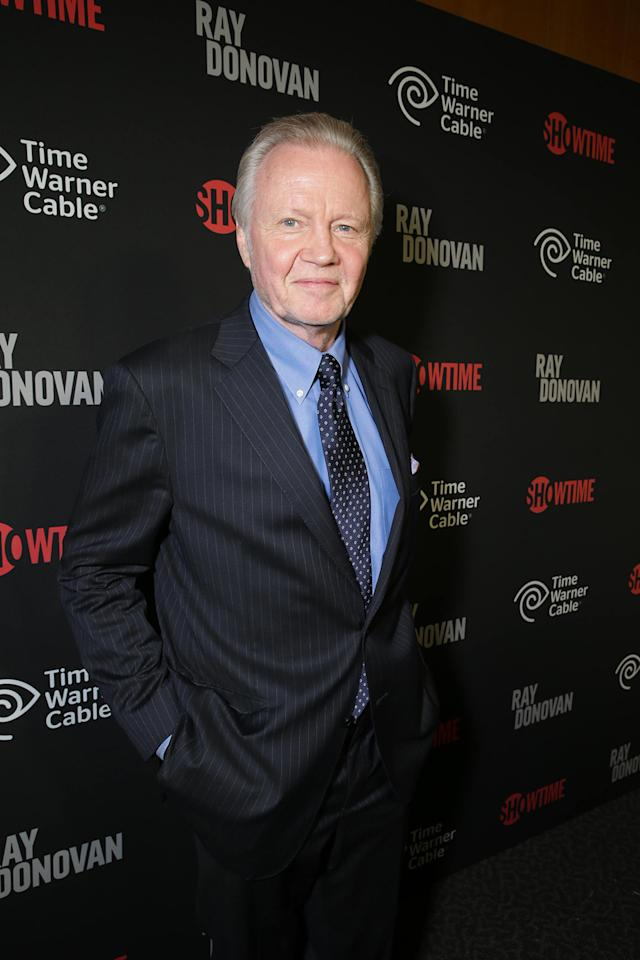 Jon Voight at the Showtime premiere of the new drama series Ray Donovan presented by Time Warner Cable, on Tuesday, June, 25, 2013 in Los Angeles. (Photo by Eric Charbonneau/Invision for Showtime/AP Images)