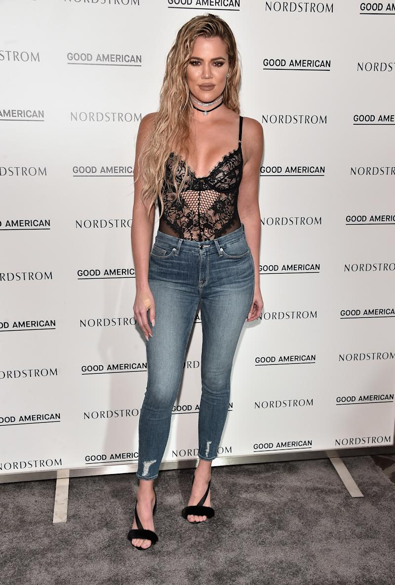 Khloe Kardashian at her Good American Launch Event at Nordstrom at the Grove on Oct. 18, 2016 in Los Angeles, California. (Photo: Getty Images)