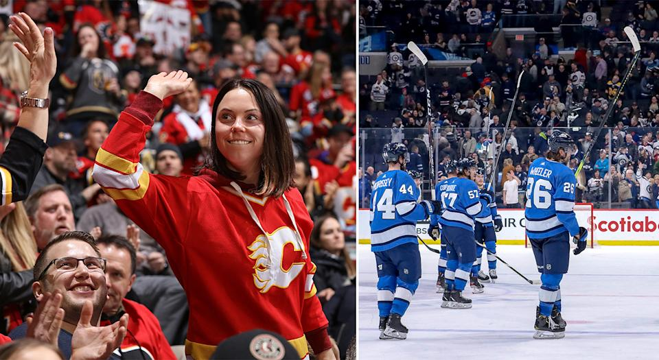 The ownership groups of the Calgary Flames and Winnipeg Jets have changed their tunes when it comes to their event staff getting paid during the NHL's hiatus. (Getty Images)