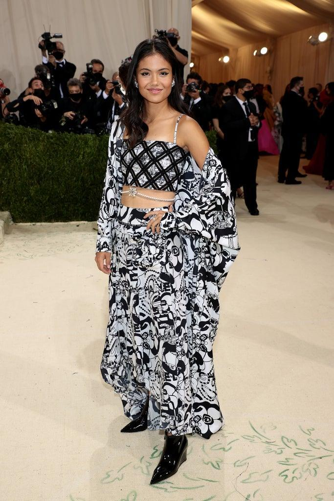 NEW YORK, NEW YORK – SEPTEMBER 13: Emma Raducanu attends The 2021 Met Gala Celebrating In America: A Lexicon Of Fashion at Metropolitan Museum of Art on September 13, 2021 in New York City. (Photo by Dimitrios Kambouris/Getty Images for The Met Museum/Vogue )