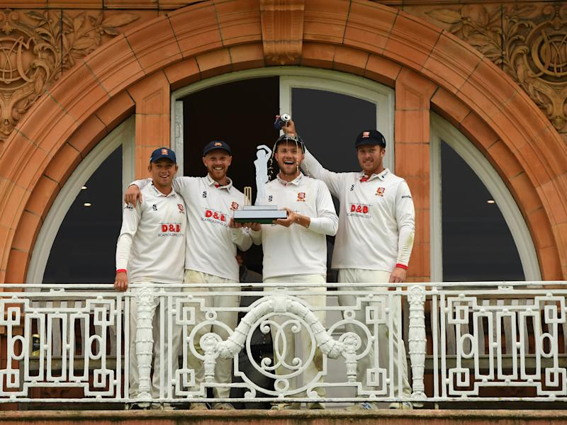 Essex celebrate on the terrace at Lord'sPopperfoto via Getty Images