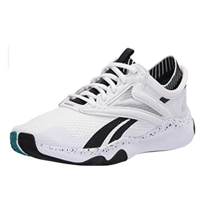 """<p><strong>Reebok</strong></p><p>amazon.com</p><p><strong>$56.29</strong></p><p><a href=""""https://www.amazon.com/dp/B07T5M86HP?tag=syn-yahoo-20&ascsubtag=%5Bartid%7C2140.g.19966106%5Bsrc%7Cyahoo-us"""" rel=""""nofollow noopener"""" target=""""_blank"""" data-ylk=""""slk:Shop Now"""" class=""""link rapid-noclick-resp"""">Shop Now</a></p><p>Made for explosive movement, these sneakers were designed with stability, grip, and durability in mind. They offer targeted support and a secure fit that will get you through <em>all</em> your jumps. </p><p><strong>Rave review:</strong> """"These shoes are the perfect shoe for HIIT workouts. The shoes grip the floor and have a very comfortable base when doing squats."""" <br>—Debra Killen,<em> <a href=""""https://www.amazon.com/gp/customer-reviews/RVC8YWTKTPLJZ/ref=cm_cr_getr_d_rvw_ttl?ie=UTF8&ASIN=B07T5MLC43&tag=syn-yahoo-20&ascsubtag=%5Bartid%7C2140.g.19966106%5Bsrc%7Cyahoo-us"""" rel=""""nofollow noopener"""" target=""""_blank"""" data-ylk=""""slk:amazon.com"""" class=""""link rapid-noclick-resp"""">amazon.com</a></em></p>"""