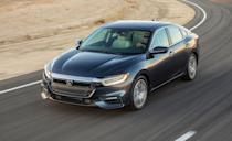 """<p>Although the <a href=""""https://www.caranddriver.com/honda/insight"""" rel=""""nofollow noopener"""" target=""""_blank"""" data-ylk=""""slk:Honda Insight"""" class=""""link rapid-noclick-resp"""">Honda Insight</a> is more Civic-like in size, <a href=""""https://www.iihs.org/ratings/vehicle/honda/insight-4-door-sedan/2021"""" rel=""""nofollow noopener"""" target=""""_blank"""" data-ylk=""""slk:it scored higher"""" class=""""link rapid-noclick-resp"""">it scored higher</a> than the Accord during IIHS testing. It comes standard with automated emergency braking, lane-keeping assist, and adaptive cruise control. The compact hybrid sedan achieved Good and Superior marks across every IIHS test, with a Good+ rating for easy-to-us child-seat anchors. Unlike the Accord, every Insight comes standard with LED low- and high-beam headlights. All models meet qualifications for the agencies' awards, so buyers don't have to pay extra for an option package to enjoy the safety and security the Insight provides. We lived with a 2019 Insight for <a href=""""https://www.caranddriver.com/reviews/a26287347/2019-honda-insight-reliability-maintenance/"""" rel=""""nofollow noopener"""" target=""""_blank"""" data-ylk=""""slk:40,000 miles during a long-term road test"""" class=""""link rapid-noclick-resp"""">40,000 miles during a long-term road test</a>.</p><p><a class=""""link rapid-noclick-resp"""" href=""""https://www.caranddriver.com/reviews/a26287347/2019-honda-insight-reliability-maintenance/"""" rel=""""nofollow noopener"""" target=""""_blank"""" data-ylk=""""slk:INSIGHT TESTED"""">INSIGHT TESTED</a> 