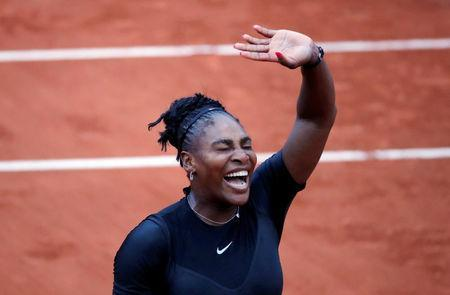 Tennis - French Open - Roland Garros, Paris, France - May 31, 2018 Serena Williams of the U.S. celebrates winning her second round match against Australia's Ashleigh Barty REUTERS/Charles Platiau