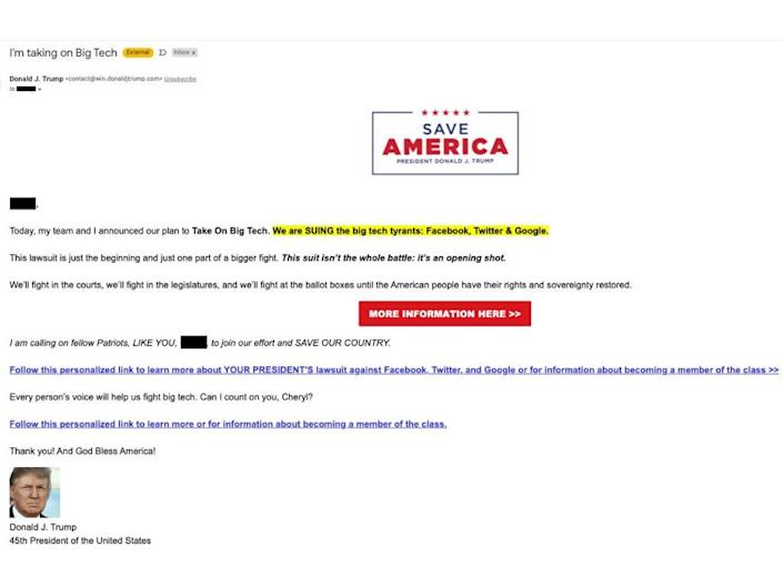 donald trump campaign email
