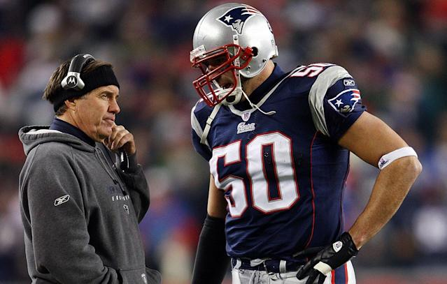 Bill Belichick coached Mike Vrabel on the Patriots from 2001-2008. (Getty Images)