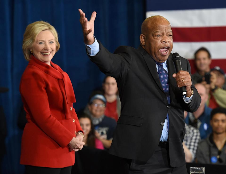 Rep. John Lewis speaks during a get-out-the-caucus event for Democratic presidential candidate Hillary Clinton at the Mountain Shadows Community Center on February 14, 2016 in Las Vegas, Nevada. (Photo: Ethan Miller/Getty Images)