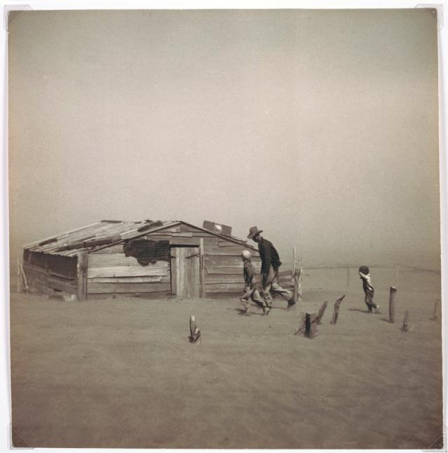<p>Dust storm, Cimarron County, 1936. (Photo: The Cleveland Museum of Art, Norman O. Stone and Ella A. Stone Memorial Fund, 2001.91. © Arthur Rothstein, Library of Congress) </p>