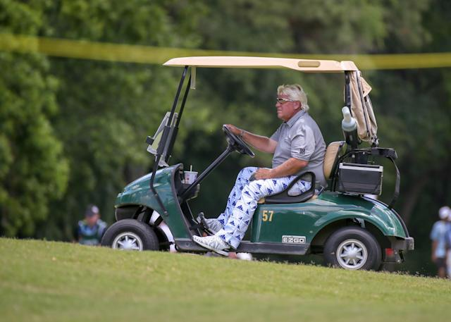 Tiger Woods has been poking fun at John Daly's use of a cart at the PGA Championship. Daly doesn't think it's a laughing matter.