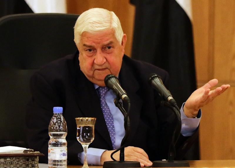 Syrian Foreign Minister Walid Muallem speaks during a press conference on March 12, 2016 in the capital Damascus (AFP Photo/Louai Beshara)