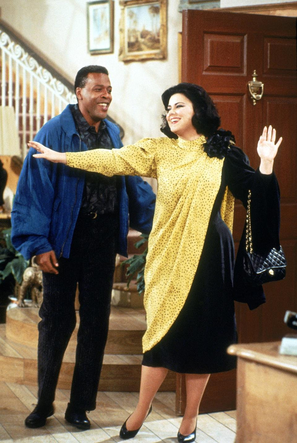 Anthony Bouvier (Meshach Taylor) and Suzanne Sugarbaker (Delta Burke)