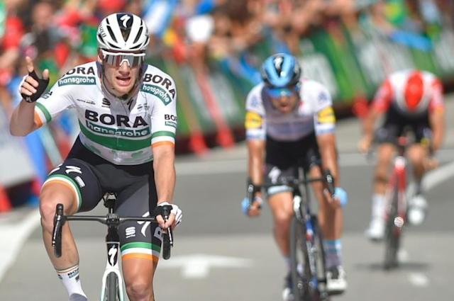 Sam Bennett, who won two stages at this year's Tour of Spain, is leaving Bora after six years with the German team (AFP Photo/ANDER GILLENEA)
