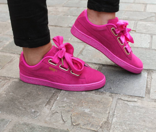 aa215450704 The New Puma Suede Heart Satin is Stealing Our Hearts