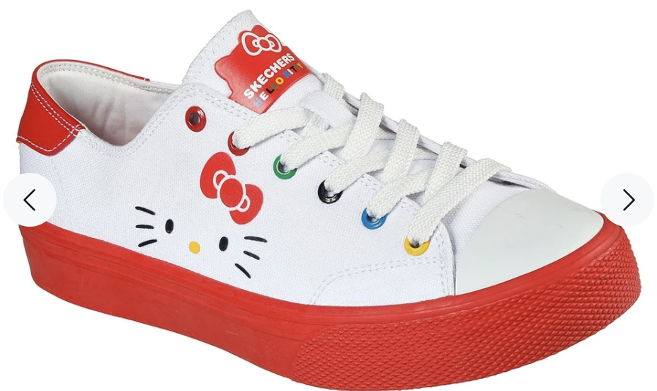 Skechers X Hello Kitty Women Street V'lites Shoes