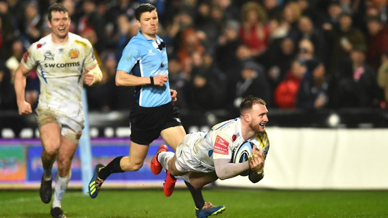 Gloucester 15-26 Exeter Chiefs: Returning Hogg scores try as leaders return to winning ways