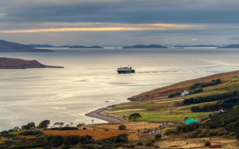 The view from Ullapool Hill, on the western coast of Scotland - Getty