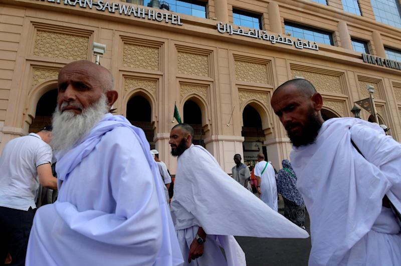 Pilgrims at Hajj in a previous year (AFP/Getty Images)