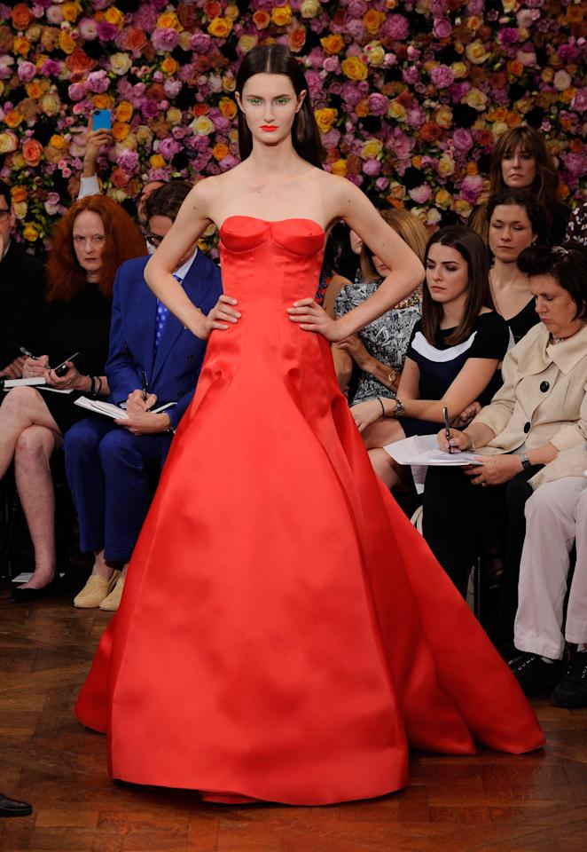 FWD201 Model walks the runway at the Christian Dior Fall 2012 haute couture show in Paris on Monday, July 2, 2012. (Fashion Wire Daily/Gruber)
