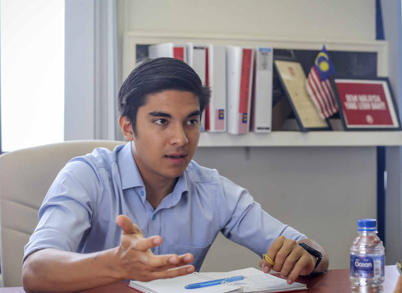 Youth and Sports Minister Syed Saddiq Abdul Rahman was elated that Indonesia president Joko Widodo has called him 'bro'. — Picture by Firdaus Latif