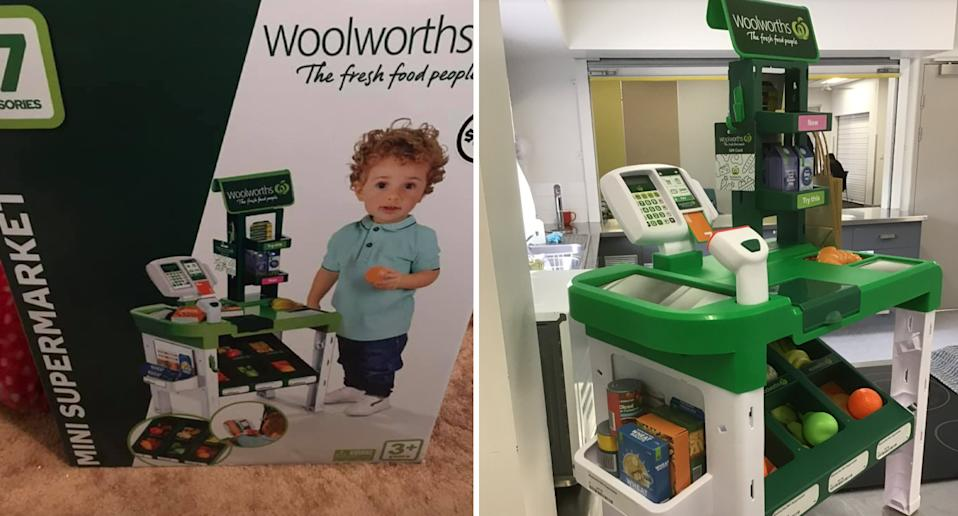 Photo shows the Woolworths mini checkout toy.