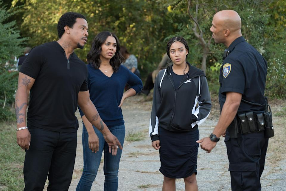 Russell Hornsby stars alongside Regina Hall, Amandla Stenberg, and Common in <em>The Hate U Give</em> (Photo: Erika Doss/20th Century Fox)