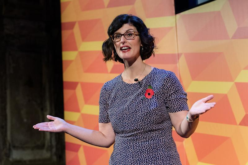 Liberal Democrats Shadow Education Secretary Layla Moran addresses supporters during Rally for the Future at Battersea Arts Centre on 09 November, 2019 in London, England. The Liberal Democrats set out vision to stop Brexit and announce plans to introduce free childcare from 9 months old as the party campaigns for the General Election 2019. (Photo by WIktor Szymanowicz/NurPhoto via Getty Images)