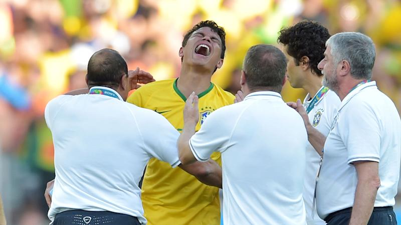 Thiago Silva crying Brazil Chile World Cup 28062014