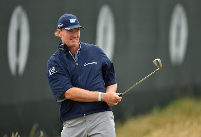 Ernie Els three-putts from one foot on Thursday at the British Open