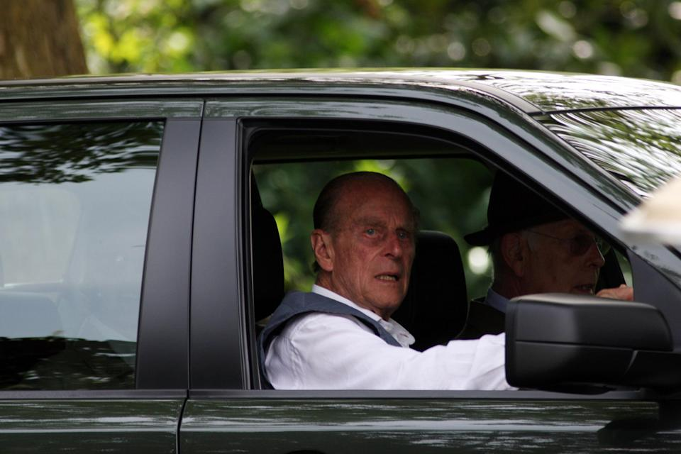 The Duke of Edinburgh pictured driving in 2008 [Photo: PA]
