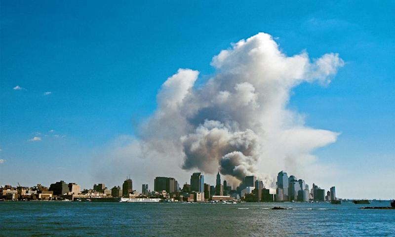 The 11 September attack on the World Trade Center in New York.