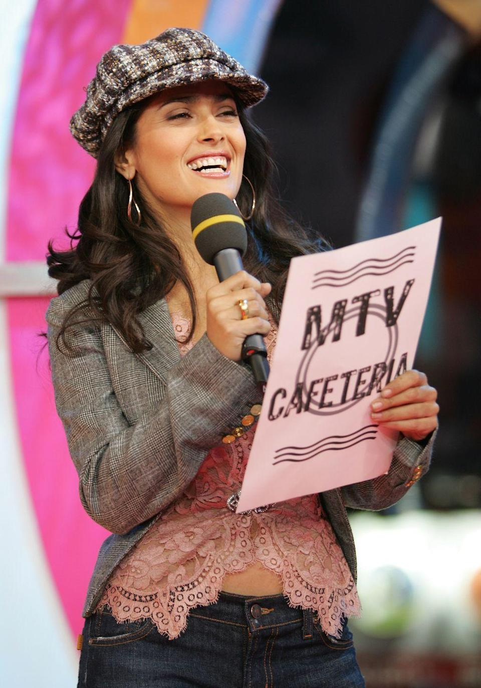<p>Not sure what MTV Cafeteria is, but only award-winning actress Salma Hayek could convince me to eat there.</p>