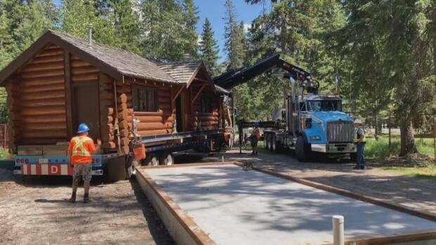 The Rundle Cabin was moved in summer 2021.