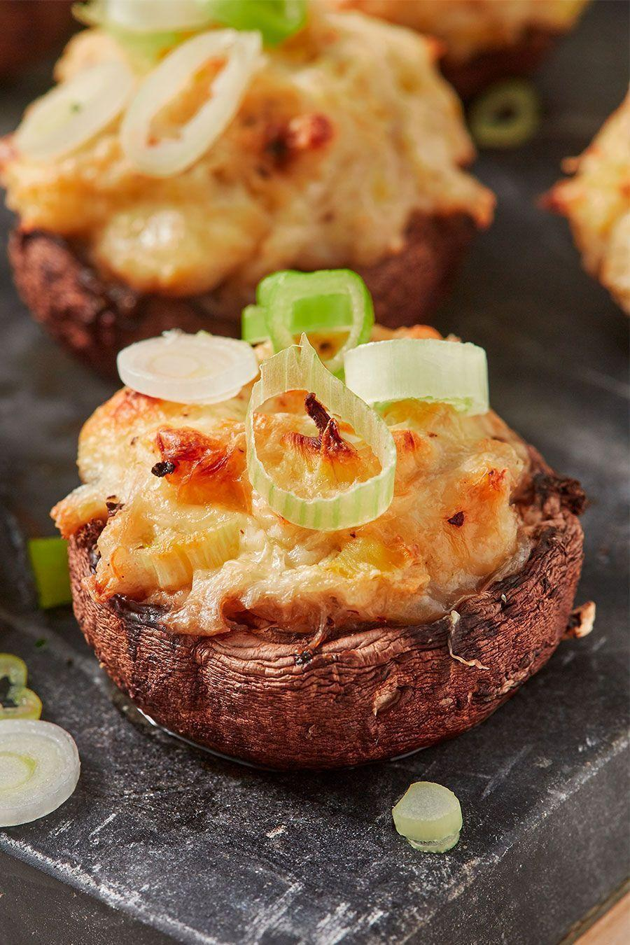 """<p>This recipe is irresistible with the addition of sweet, tender crab, fresh spring onions, and rich cream cheese.</p><p>Get the <a href=""""https://www.delish.com/uk/cooking/recipes/a32978049/crab-artichoke-stuffed-mushrooms-recipe/"""" rel=""""nofollow noopener"""" target=""""_blank"""" data-ylk=""""slk:Crab Artichoke Stuffed Mushrooms"""" class=""""link rapid-noclick-resp"""">Crab Artichoke Stuffed Mushrooms</a> recipe.</p>"""