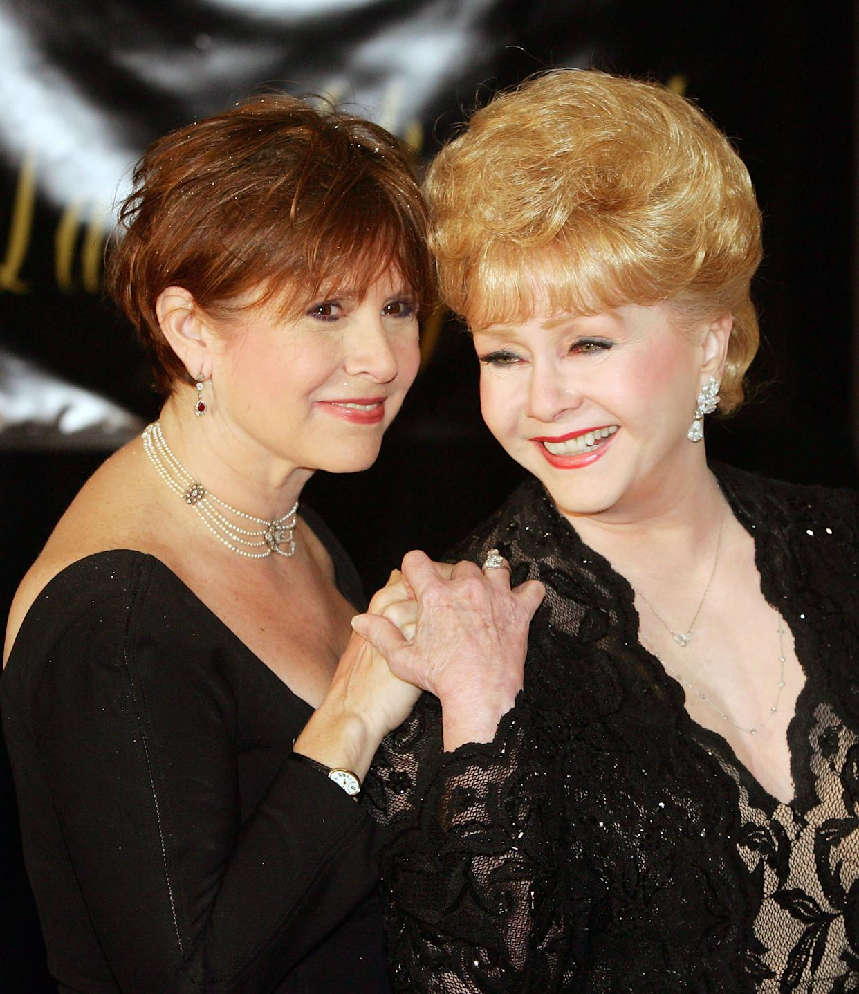 Carrie Fisher andDebbie Reynolds arrive for Elizabeth Taylor's 75th birthday at the Ritz-Carlton, Lake Las Vegas on Feb. 27, 2007.