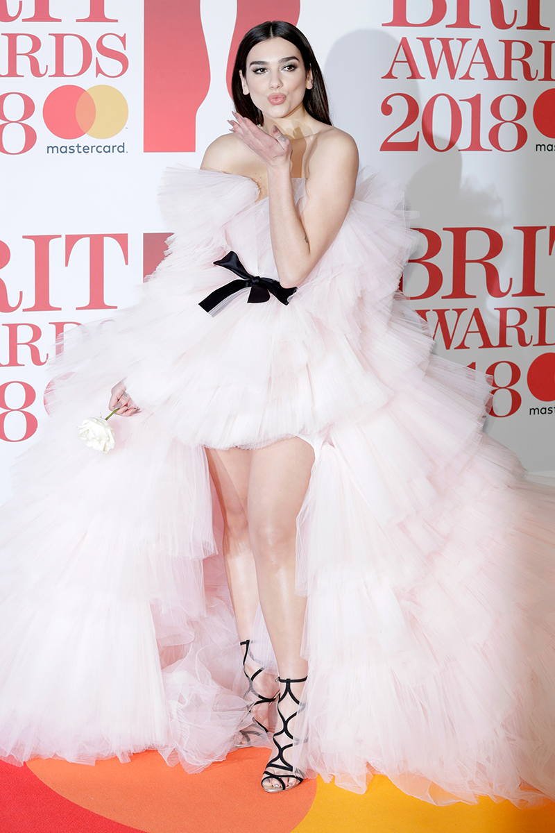 """<p>Dua wore that Giambattista Valli It-dress to the <a href=""""https://www.cosmopolitan.com/uk/fashion/celebrity/g18567317/brit-awards-2018-red-carpet-dresses/"""" rel=""""nofollow noopener"""" target=""""_blank"""" data-ylk=""""slk:2018 Brit Awards"""" class=""""link rapid-noclick-resp"""">2018 Brit Awards</a>, looking absolutely flawless in the process.</p>"""