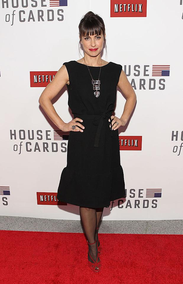 "Constance Zimmer attends Netflix's ""House of Cards"" Washington DC Screening at the NEWSEUM on January 29, 2013 in Washington, DC."
