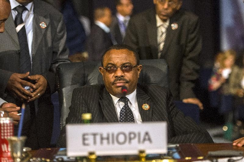 Ethiopian Prime Minister Hailemariam Desalegn attends the closing session of an African summit meeting in the Egyptian resort of Sharm el-Sheikh on June 10, 2015 (AFP Photo/Khaled Desouki)