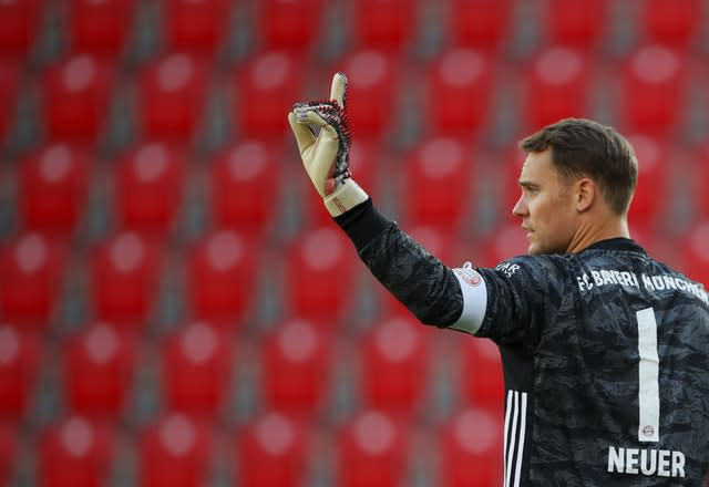 Manuel Neuer returned to action as Bayern won at Union Berlin on Sunday (Hannibal Hanschke/POOL)