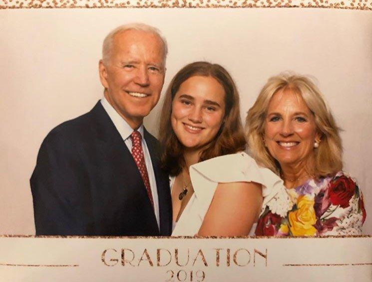 """Democratic presidential nominee Joe Biden took a break from campaigning to celebrate his granddaughter Maisy's latest accomplishment. """"Jill and I were so thrilled to be there today to watch our amazing granddaughter Maisy graduate from high school,"""" the proud grandfather <a href=""""https://www.instagram.com/p/BygJGsnB2Qn/"""" rel=""""nofollow noopener"""" target=""""_blank"""" data-ylk=""""slk:shared"""" class=""""link rapid-noclick-resp"""">shared</a> with his Instagram followers. """"Maisy, you make us so proud and we can't wait to see what you do next with your talent, smarts, dedication and kindness. The future is yours, and Nana and Pop will always be right behind you."""""""