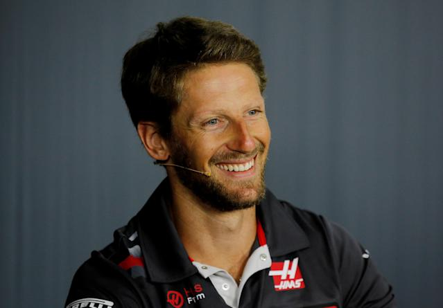 Formula One F1 - French Grand Prix - Circuit Paul Ricard, Le Castellet, France - June 21, 2018 Haas' Romain Grosjean during the press conference REUTERS/Jean-Paul Pelissier