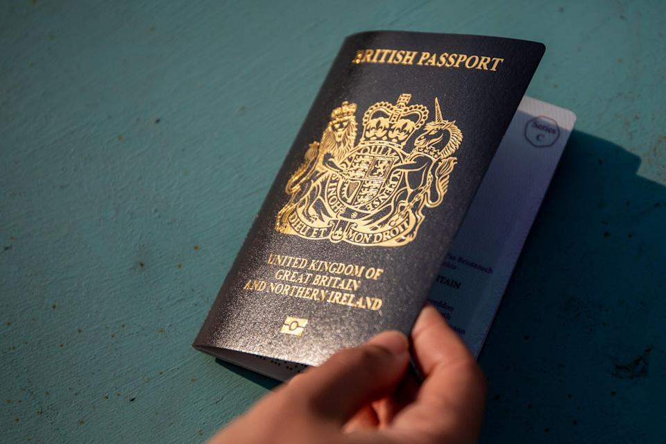 A British National (Overseas) passport, which confers on Hongkongers the right to live and work in the country under a new visa scheme. Photo: Bloomberg