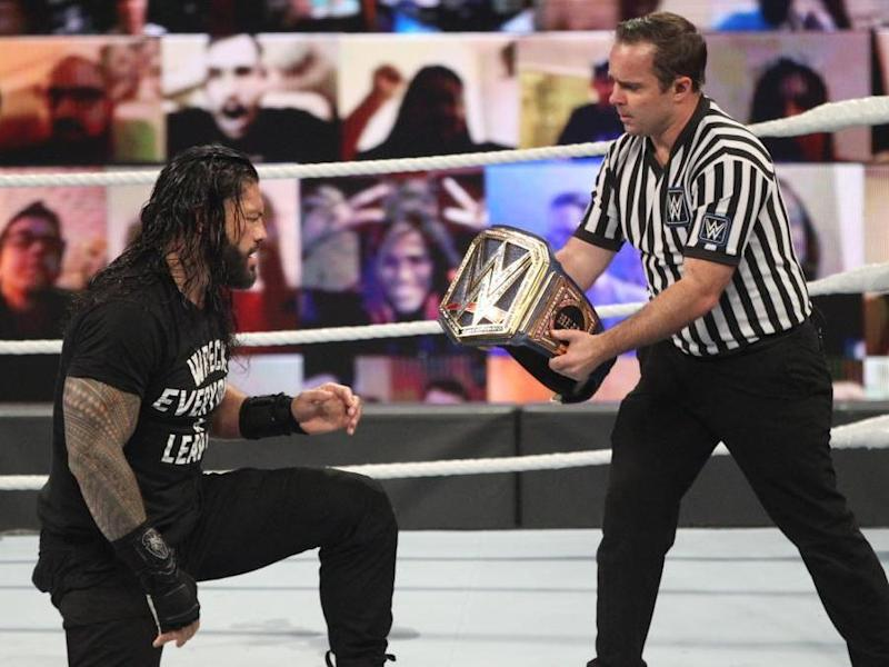 Roman Reigns wins the belt: Getty