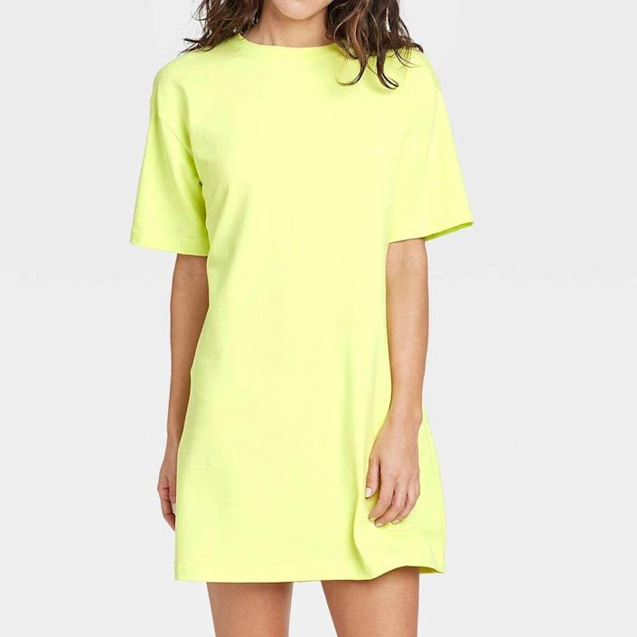 A New Day Elbow Sleeve Knit T-shirt Dress